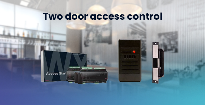 Card door access: Two-door access